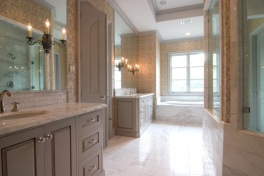 Custom Home Bathroom Marble